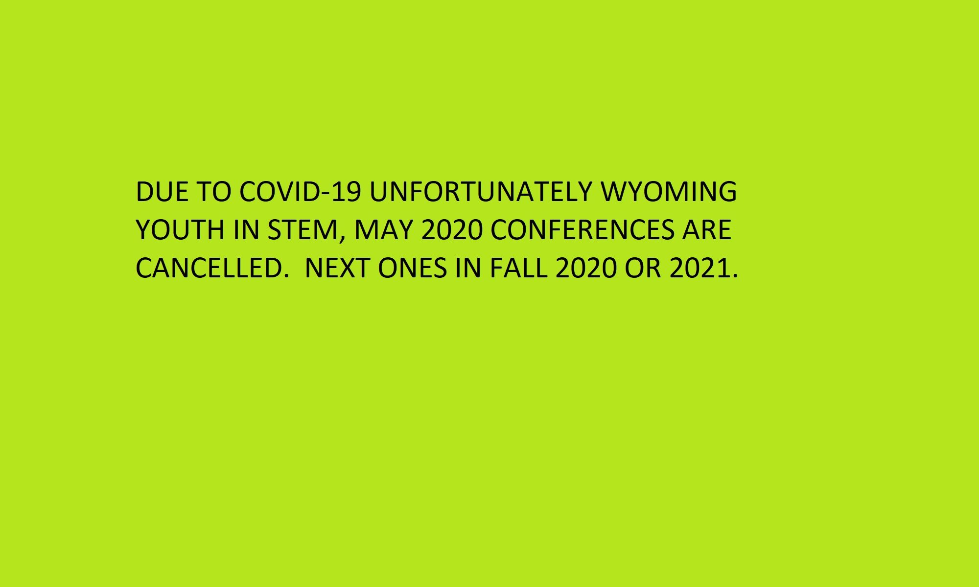 Wyoming Youth in STEM